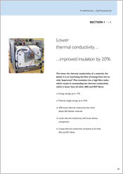 2. Lower Thermal Conductivity